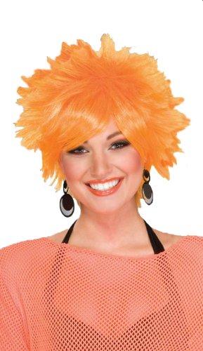 Pixie Wig Costume (Forum 80's Pop Pixie Wig, Orange, One Size)