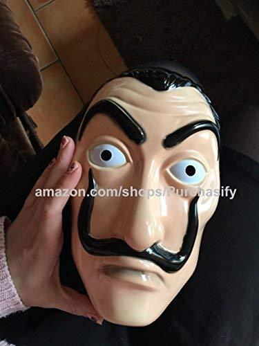 Lacasa de Papel Mask Netflix Series 3 - the Money Heist Mask - Salvador Dali Mask 2019