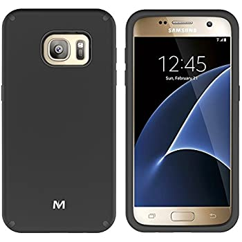 S7 Case, Galaxy S7 Case, MagicSky Slim Corner Protection Shock Absorption Hybrid Dual Layer Armor Defender Protective Case Cover for Samsung Galaxy S7 (Black)