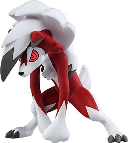 Takaratomy Pokemon Sun & Moon Figure-Esp-09-Lycanroc  Action