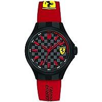 Ferrari Pit Crew Black Dial Red Silicone Men's Watch