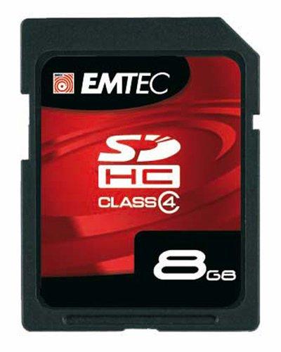 EMTEC Class 4 SDHC Flash Memory Card, 8 GB