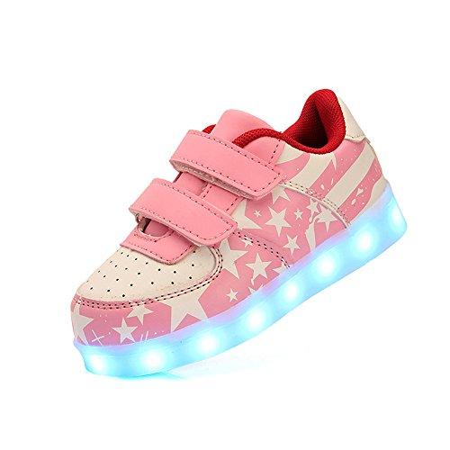 2e6f6c9cd Barato DoGeek Zapatos Led Niños Niñas 7 Color USB Carga Deportivas De Luces  Zapatillas(Mejor