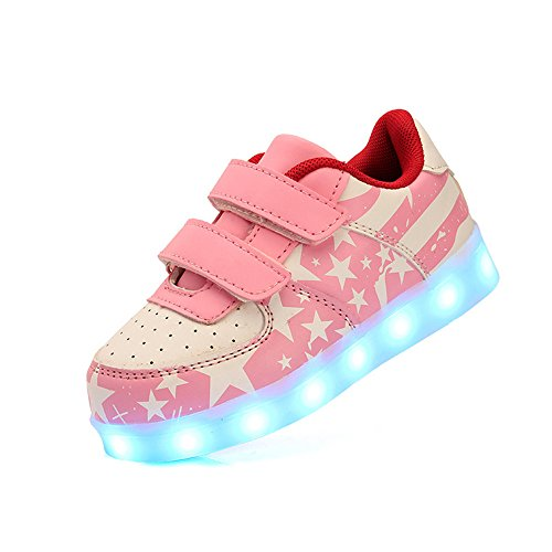 DoGeek Light Up Shoes Boys Girls Kids Sneakers 7 Color Light Flashing Sneakers Led Shoes For Best Gift