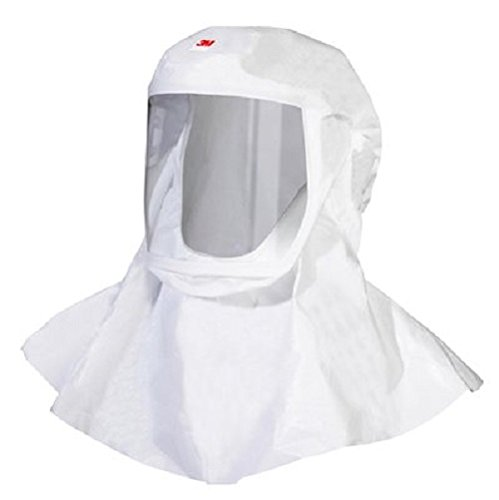 3M Versaflo Polypropylene Hood with Integrated Head Suspension, Medium/Large Size, White (Case of 5) by 3M Personal Protective Equipment