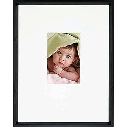 Amazon.com - GALLERY matted Matte-Black metallic frame 11x14/4x6 ...