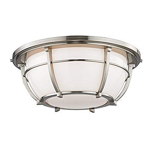Hudson Valley Lighting 4115-SN Three Light Flush Mount from The Conrad Collection, 16