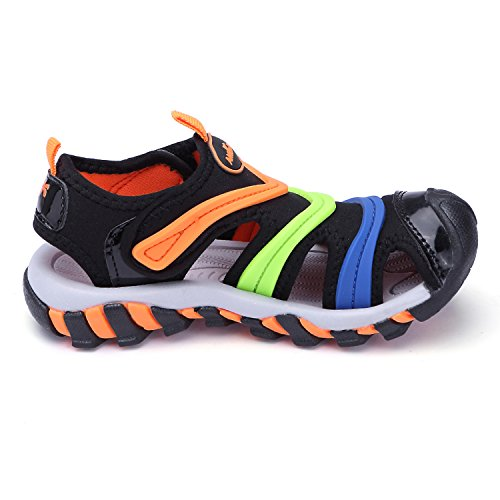Pictures of BTDREAM Boy's and Girl's Sports Black Orange US Little Kid 1.5 4