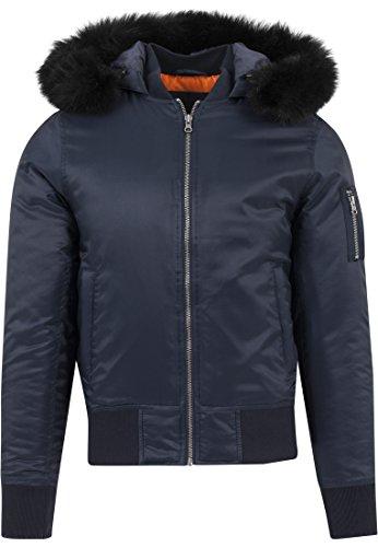 Hooded Jacket Classics Homme navy Bleu Urban Basic Blau Blouson Bomber 155 4fwIdqx5
