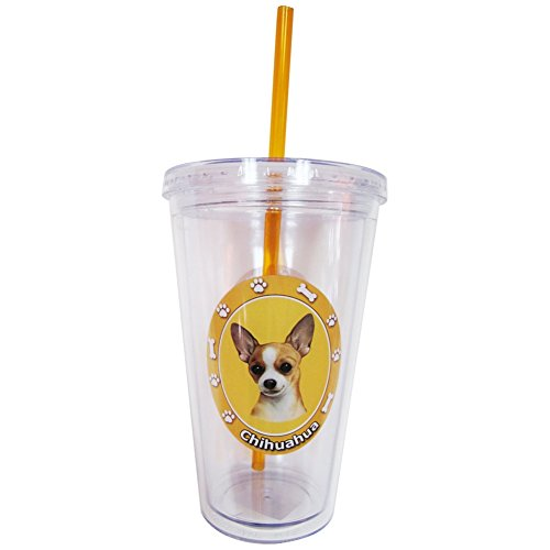 (New Chihuahua Insulated 16 Oz Tumbler Double Walled Insulated NIB Screw on Lid)