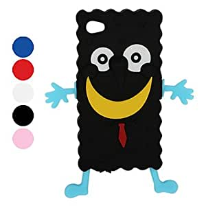 JOE Unique Cartoon Silicone Case for iPhone 4 and 4S (Assorted Colors) , Blue