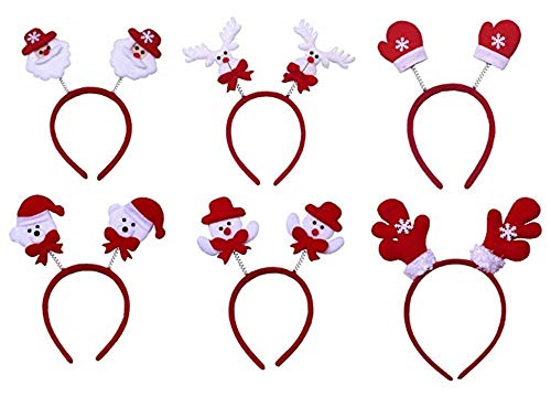 MeMo Toys Santa Clause Decorations Christmas Outfit Props Funny Baby Kids Headband Snowman Family Party Favor (Set of 6) for $<!--$6.99-->