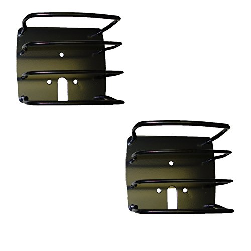 Outland 391122601 Black Euro Tail Light Guard for Jeep CJ/YJ/TJ Wrangler - Euro Light System