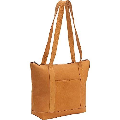 le-donne-leather-double-strap-pocket-tote-tan