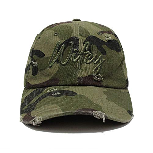 Bloomouflage Brand Distressed Wifey Army Camo Hat
