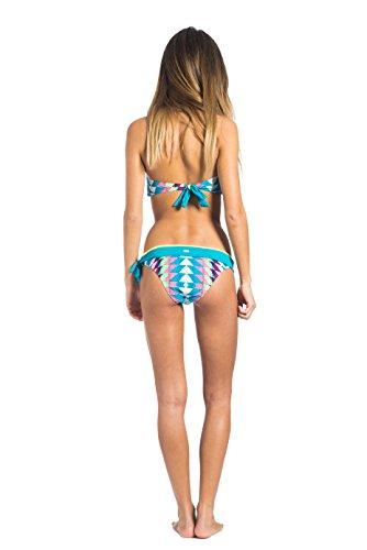 Rip Curl Phoenix Bandeau Set - Bikini para mujer Verde / Amarillo (Lime Punch)