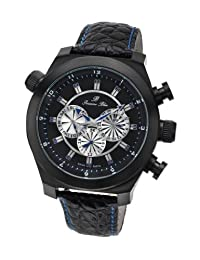 Porsamo Bleu Sydney Genuine Leather Black & Blue Men's Watch 162CSYL