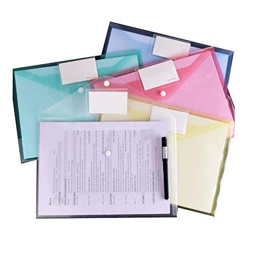 Carpeta de archivo de papel A4 colorida bolsa de plástico de la cartera transparente 50pcs