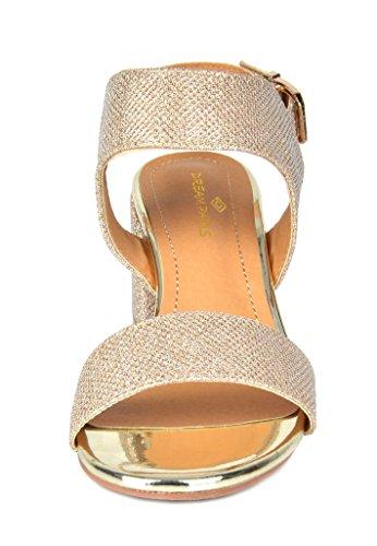 Glitter Duchess PAIRS DREAM Heel gold Sandals 01 Women's fw0qE0CF