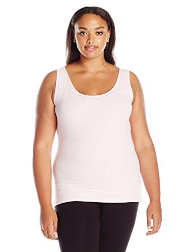 - Just My Size Women's Plus Size Stretch Jersey Cami, Paleo Pink, 1X