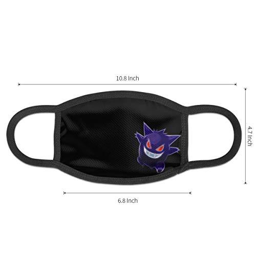 Po-ke-mon Gotta Catch'em All 4 Face Mask Dust Mouth Mask Anti-Dust Mask Black Side Unisex Washable Fashion Design