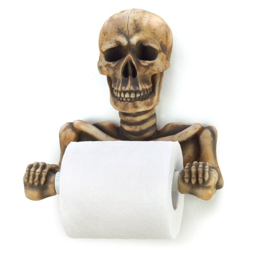 Gifts & Decor 12608 Spooky Toilet Paper Holder, Multicolor