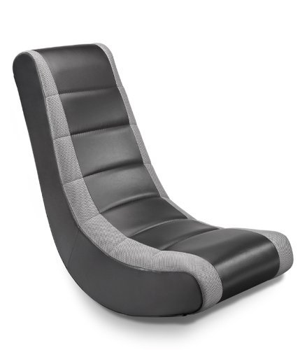 Michael Anthony Furniture Adult Video Rocker Black W/Silver Mesh Racing  Stripe By Michael Anthony