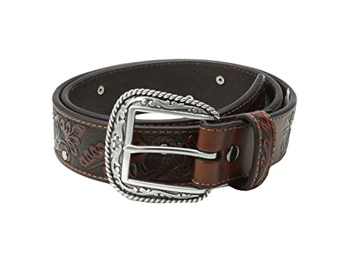 Ariat Men's 1 1/2 Studded Accent Tooled Belt,Brown,32