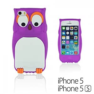 OnlineBestDigital - Owl Style 3D Soft Silicone Case for Apple iPhone 5S / Apple iPhone 5 - Purple