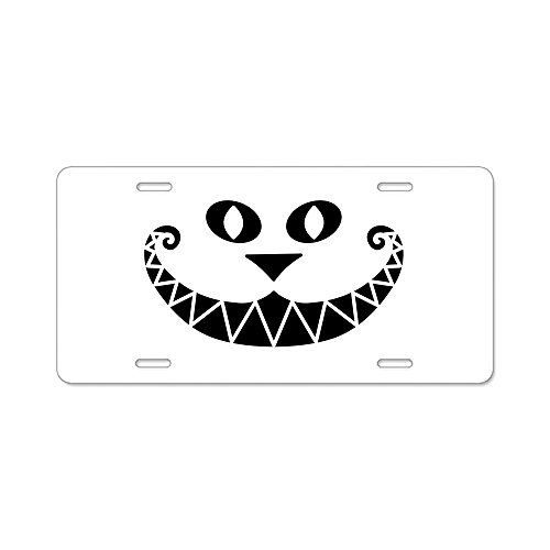 CafePress - Pararescue - Cheshire Cat - Type 2 Aluminum Licens - Aluminum License Plate, Front License Plate, Vanity - Cheshire Cat Plate License