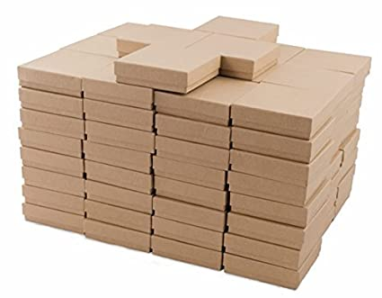 Amazoncom Kraft Cotton Filled Jewelry Box 33 Case of 100 Arts