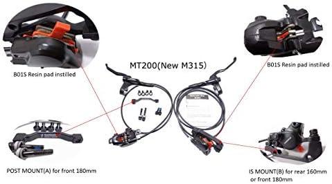 Shimano M315 MT200 MTB Hydraulic Disc Brake Set No Rotors Mountain Bike Brakes