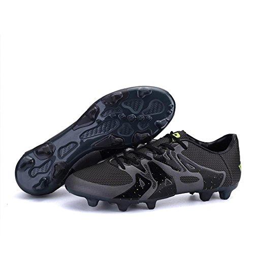 Mr. LQ - Zapatillas de combate de fútbol para adultos y zapatos de entrenamiento Black