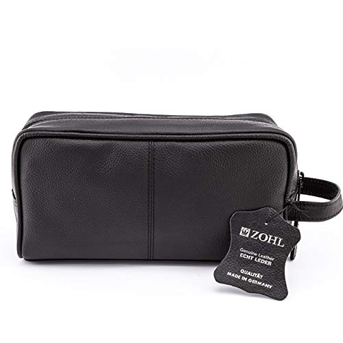 27d5713b4f44 Amazon.com   ZOHL Classic Leather Travel Toiletry Bag Medium (ZO1835)    Beauty