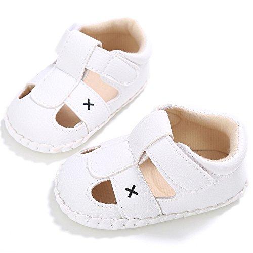 Luerme Zapato de Primer Paso Sandalias de Bebé Zapato para verano Diseño Elegante Blanco