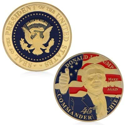 (President Of The United States - 45th President Of The United States Donald Trump Commemorative Novelty Coin Gift - Shirt Coins United Seal Books Links States Jacket America President Coffee)