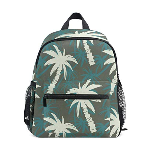 Exotic Palm Tree School Backpack For Girls Kids Elementary School Bag Mini Backpacks
