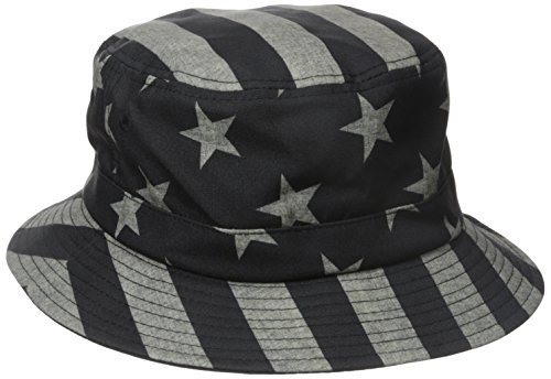 Volcom Men's Bar Star Bucket Hat, Heather Grey, Large/X-Large