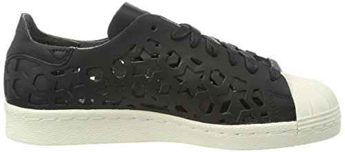 Adidas Ginnastica 80s core Superstar core off Scarpe White Da Black Out Basse Black Nero Donna Cut qqrwfCH