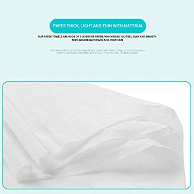 8 Pack Hand Tissues for Bathroom Paper Towels Household Napkins Toilet Butt Paper Cleaning Towels Facial Tissues 135 Sheets: Kitchen & Dining
