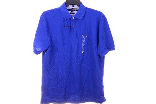 TOMMY HILFIGER SOLID POLO PLATOON BLUE L (Punto Blanco Cotton T-shirt)