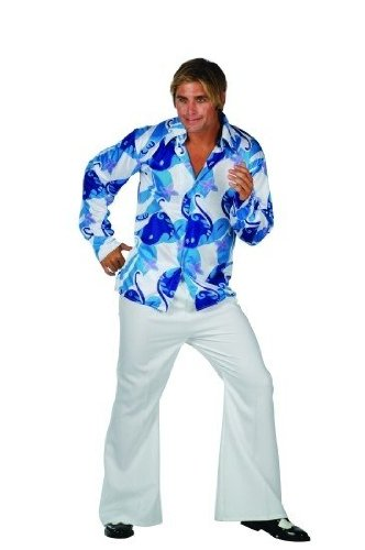 Disco Inferno Costumes (70s Fever - White Blue Adult 32-34 Costume)
