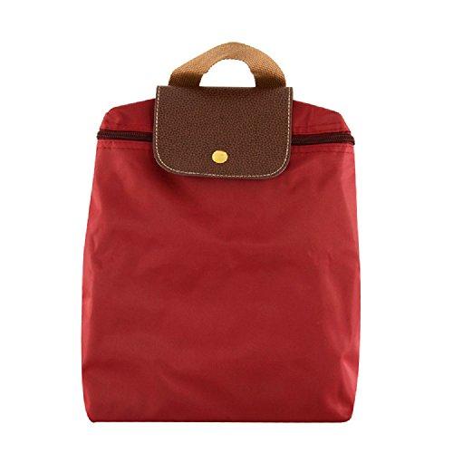 RAINBOW - Bolso mochila  para mujer marrón granate granate