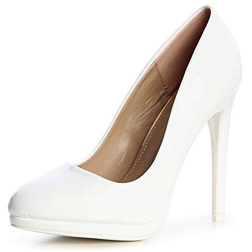 Femmes Sky Topschuhe24 Heels Pompes Blanc 78X7AOpqxw