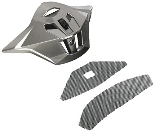 (GMAX unisex-adult full-face-helmet-style Mouth Vent Gm11D '15 with Screw/Screen (Titanium, One)