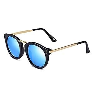 Gafas Gafas De Sol Polarizadas Coloridas Conducción Segura Femenina Anti Glare Anti-UV ( Color : Azul )