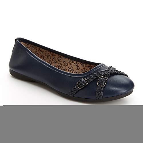 Harborsides Gwen Women Comfort Flats, Memory Foam Insole, Flex A Lite Outsole by Harborsides