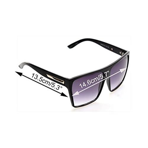 14f3f00ba7 Teamyy Gafas de Sol Cuadrada Unisex para Hombre y Mujer Marco de Gran  Tamaño de Plástico