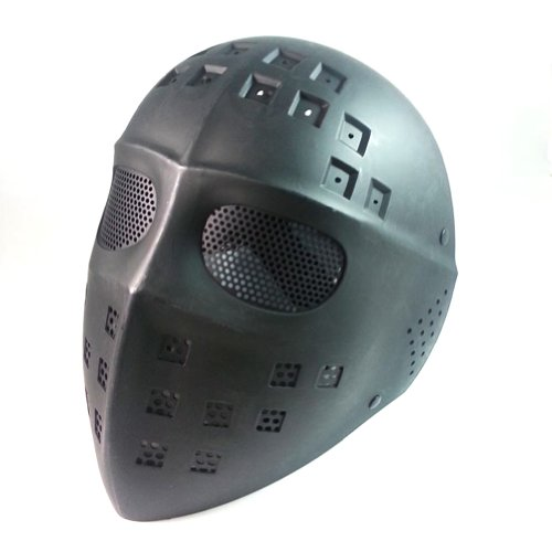 ATAIRSOFT Paintball Hockey Type Full Face Mesh Protection Mask Jason Hockey Mask Black