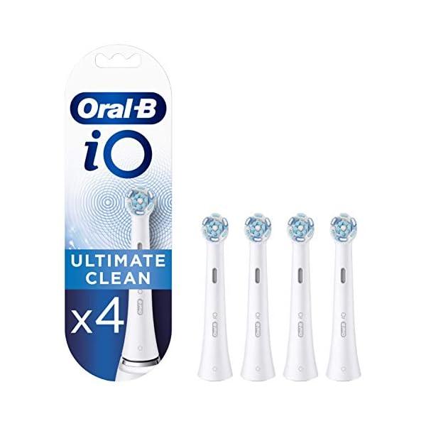 Oral-B iO Ultimate Clean Brossettes De Rechange x4, Format Spécial Boîte Aux Lettres, Recharge Originale Pour Brosse À…